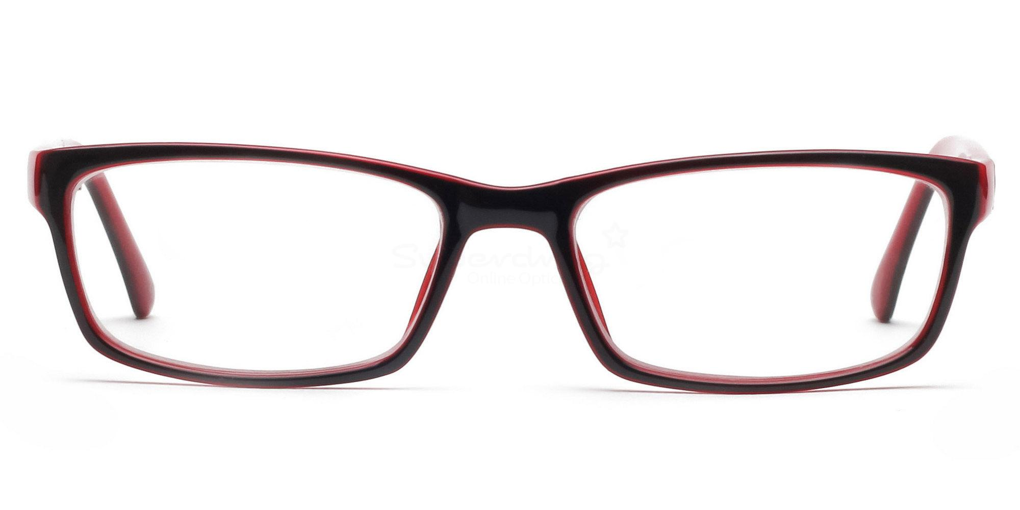 COL.23 2426 - Black and Red Glasses, Helium