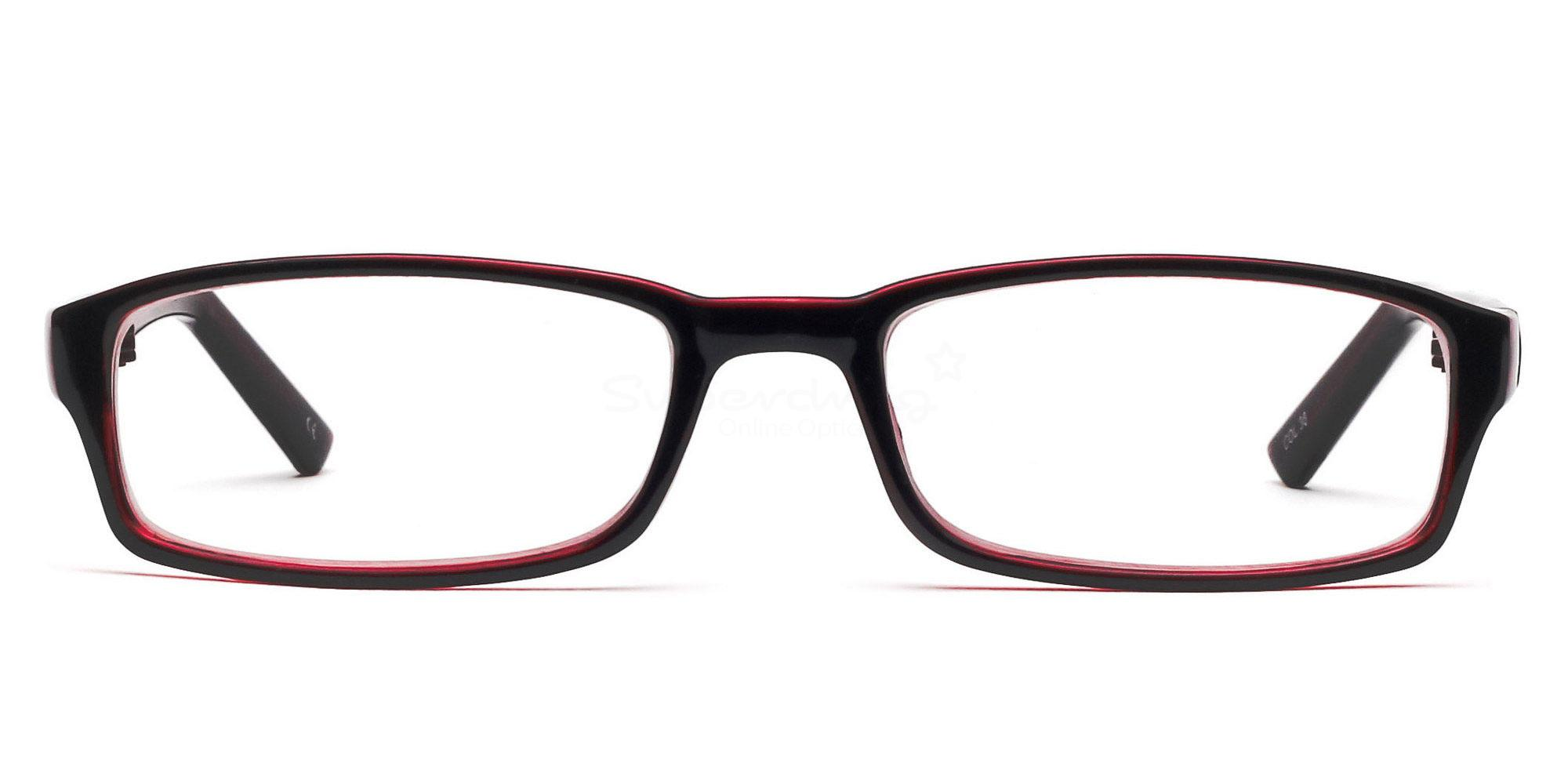 COL.38 2264 - Black and Red Glasses, Helium