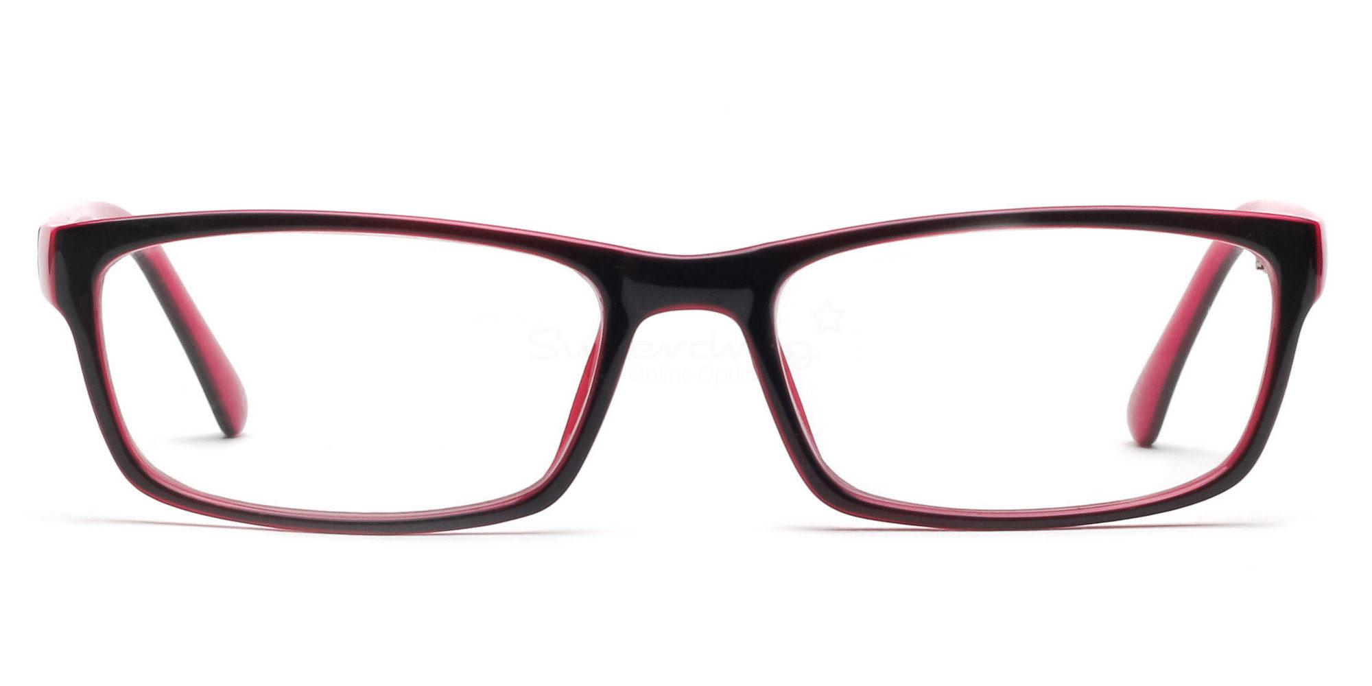 Pink and Black 2426 - Black and Pink Glasses, Helium