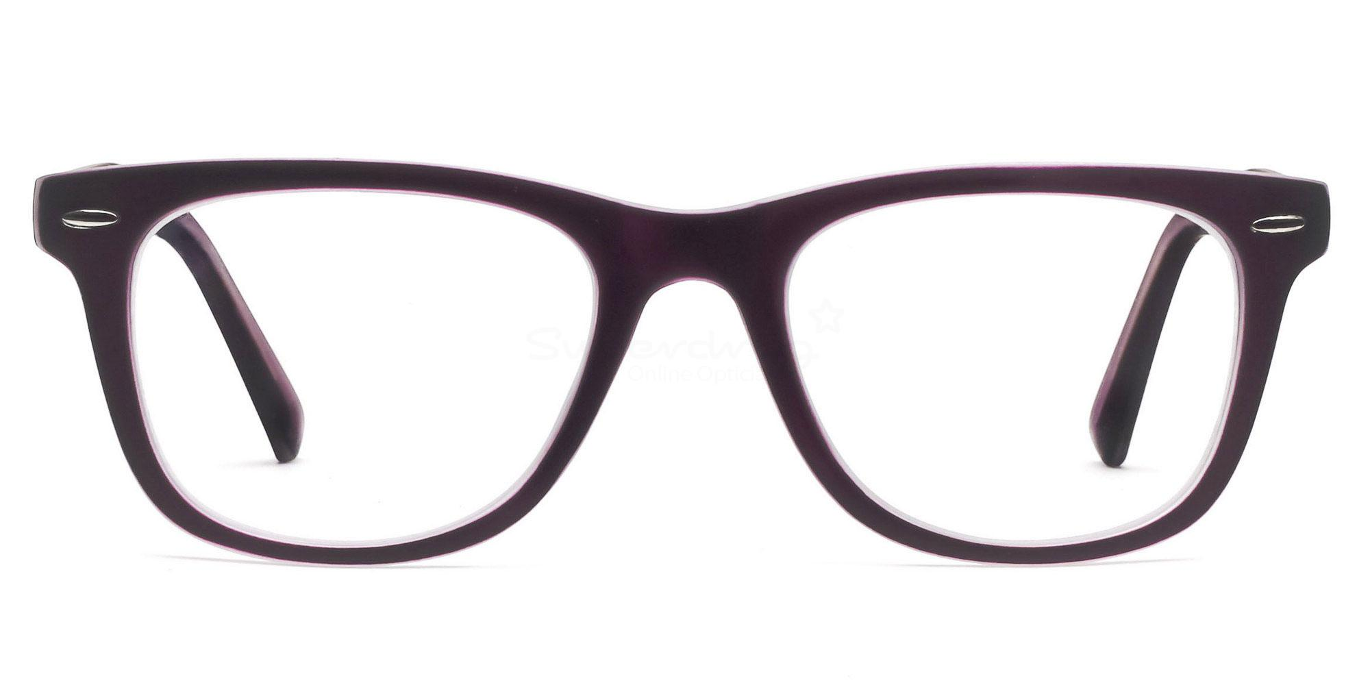 C12 8121 - Purple on Transparent Glasses, Helium