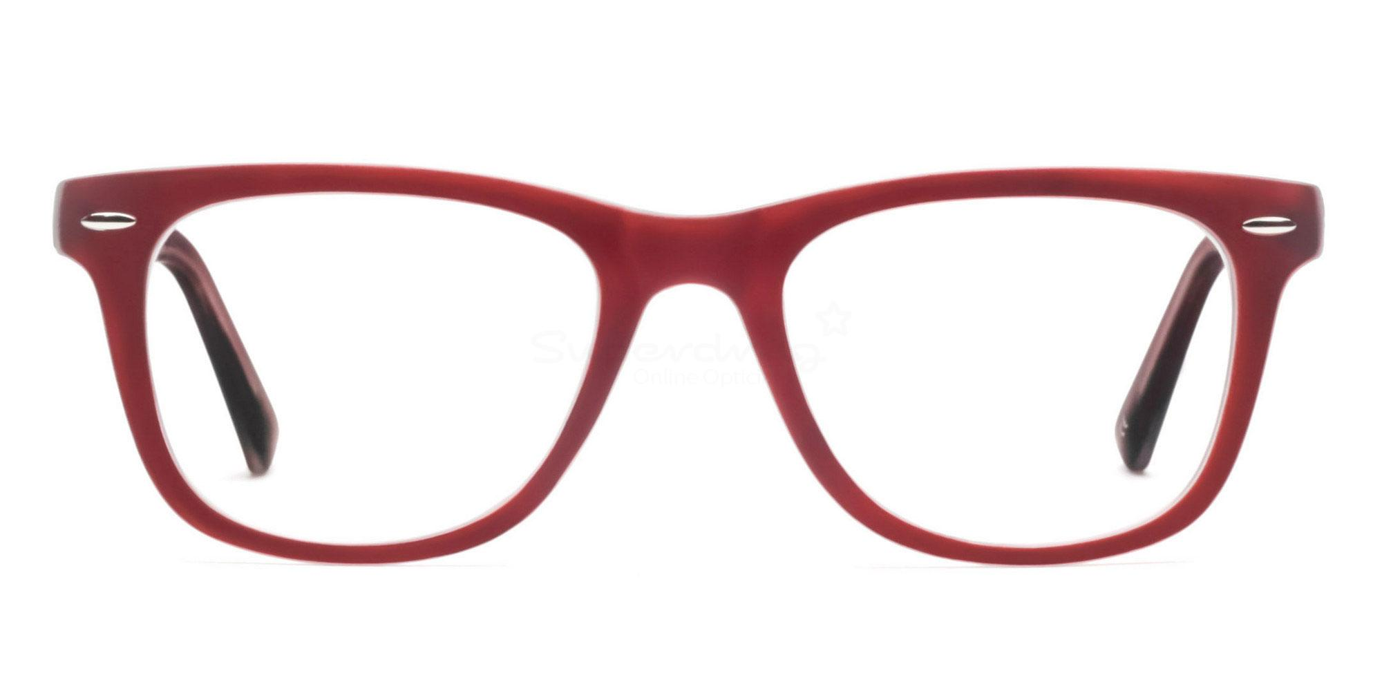 C13 8121 - Maroon on Transparent Glasses, Helium