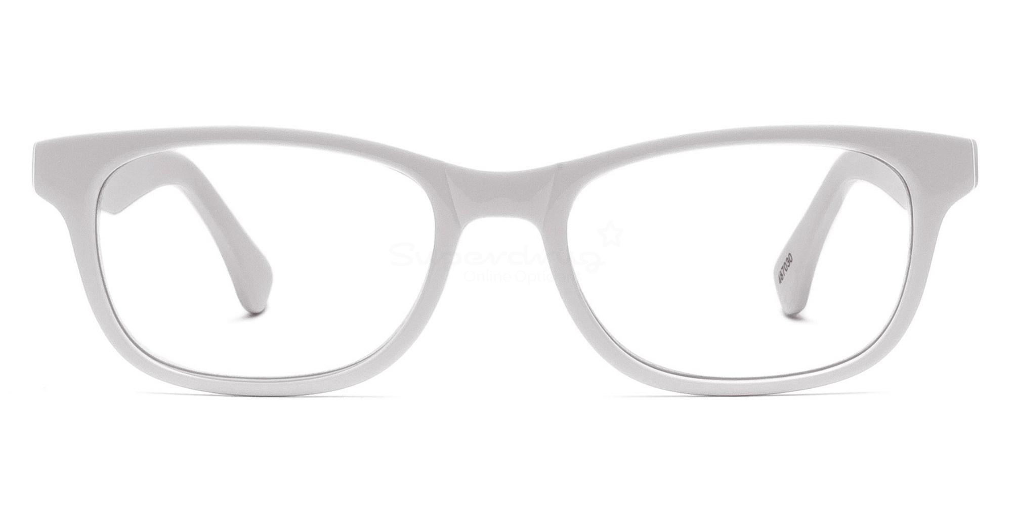 White 487030 Glasses, Helium