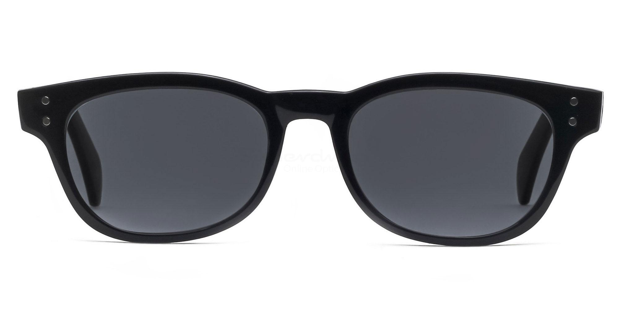 C01 Dark Grey P2249 Shiny Black (Sunglasses) Sunglasses, Indium