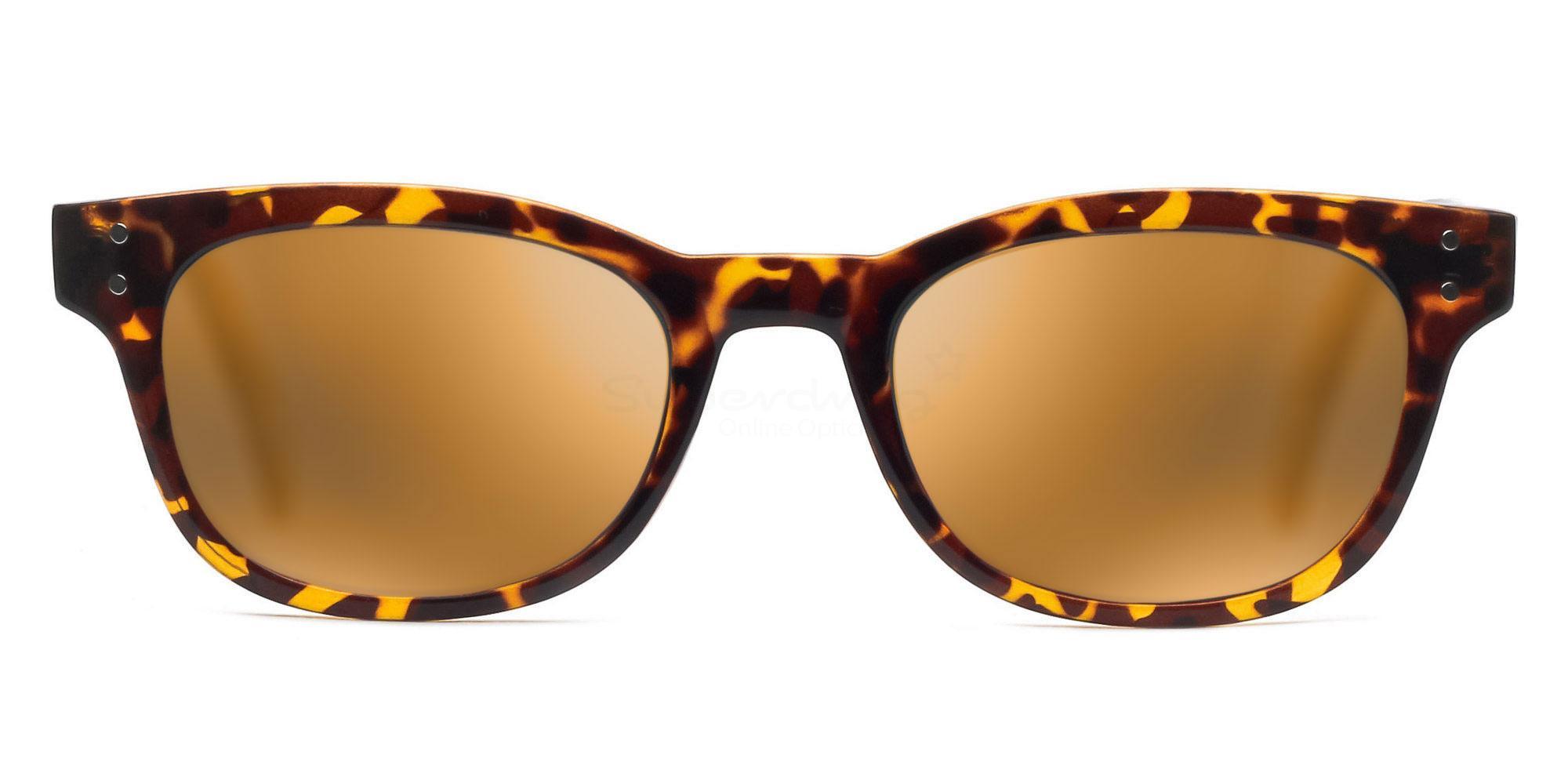 C04 Polarized Grey with Orange Mirror P2249 Havana (Mirrored Polarized) Sunglasses, Neon