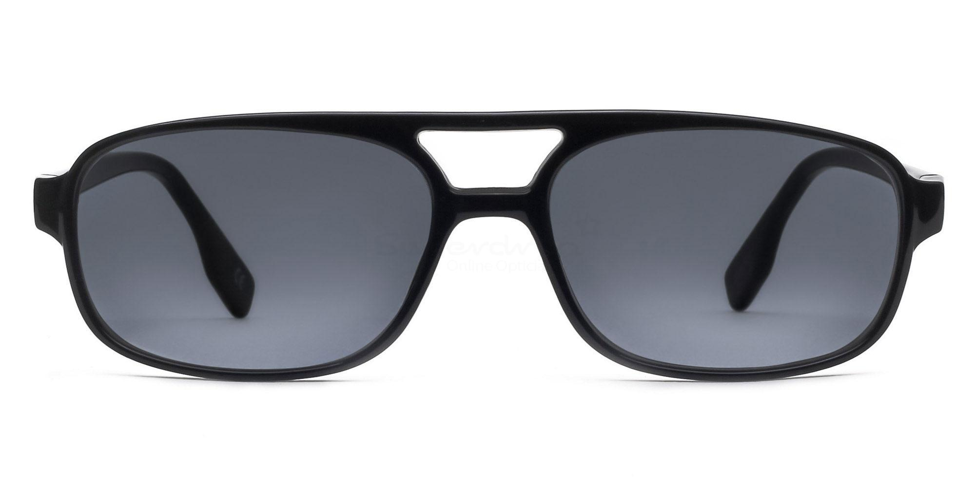 C01 Dark Grey P2395 - Black (Sunglasses) Sunglasses, Indium