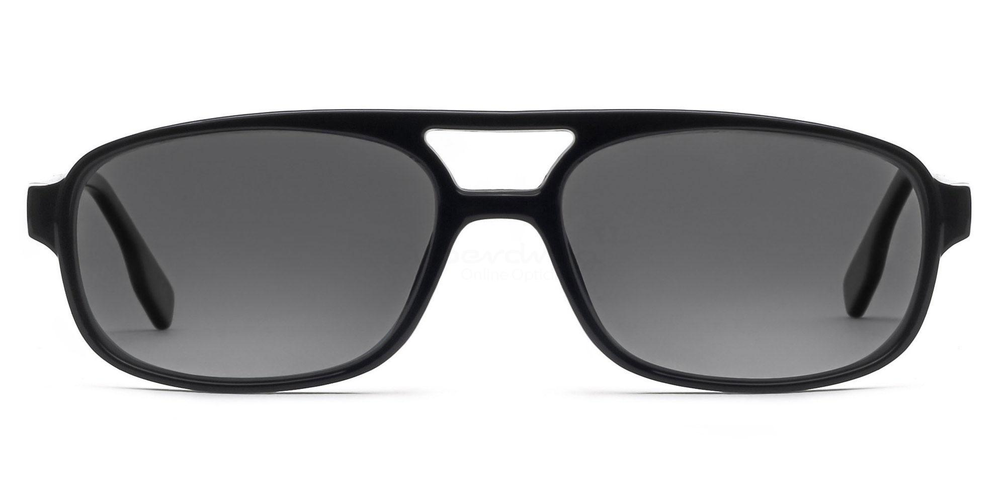C01 Polarized Grey P2395 - Black (Polarized) Sunglasses, Neon