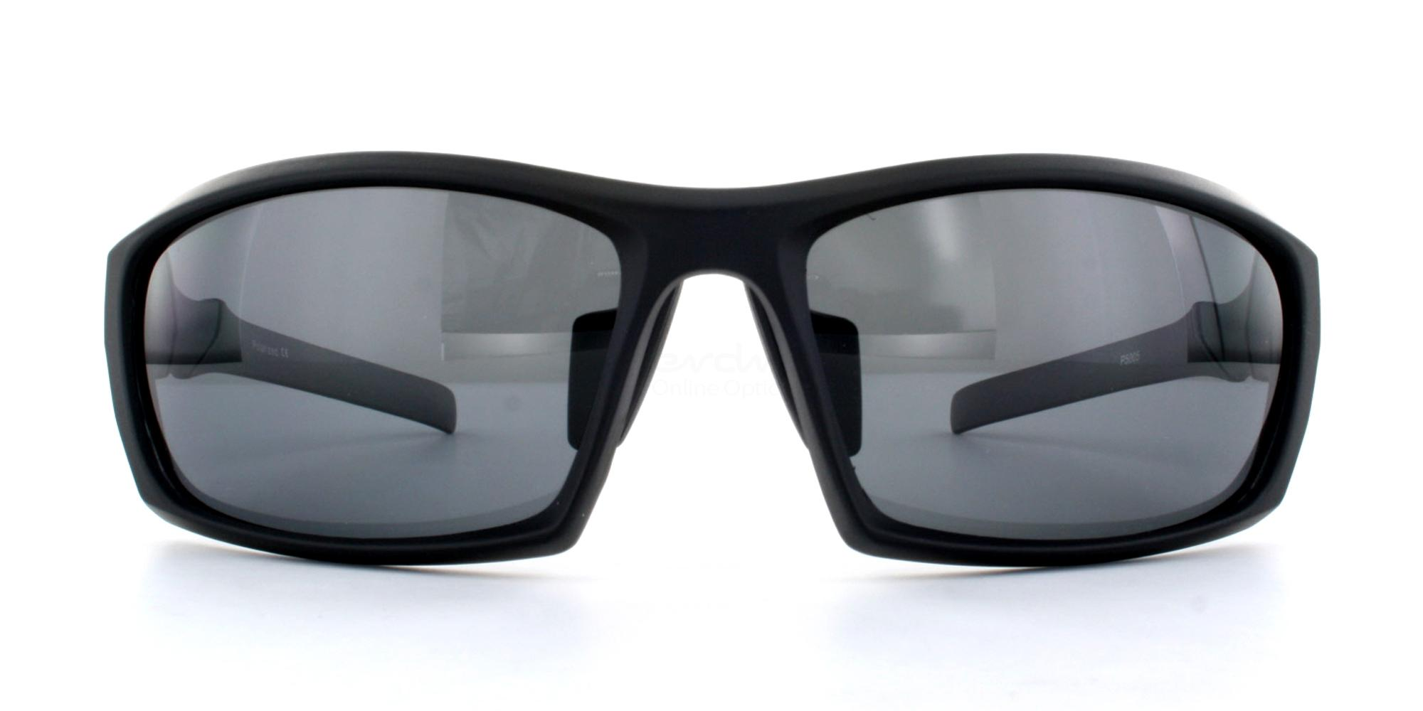Matte Black + Grey Lens P5005 Sunglasses, Aero