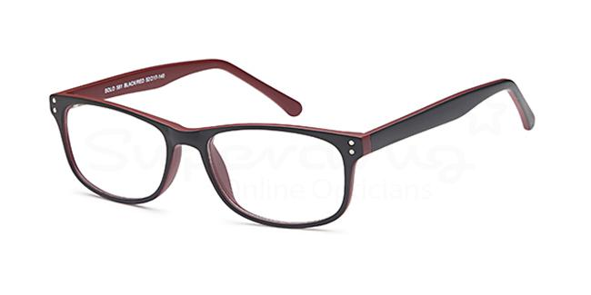 Black/Red SIG 124 Glasses, Radon