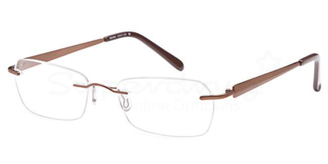Brown EMP7567 Glasses, Zirconium
