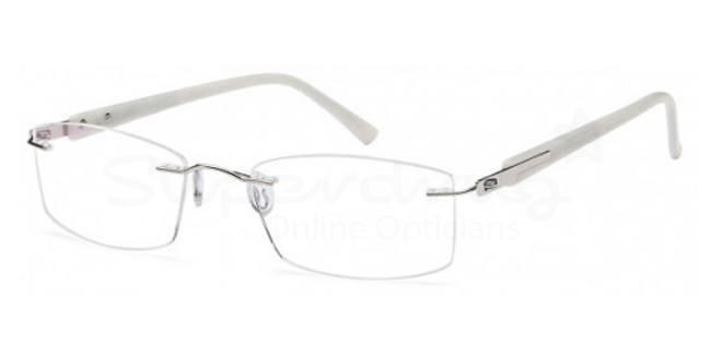 Silver EMP7580 Glasses, Zirconium