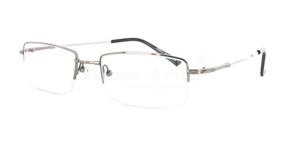 Gunmetal 8017 Glasses, Indium