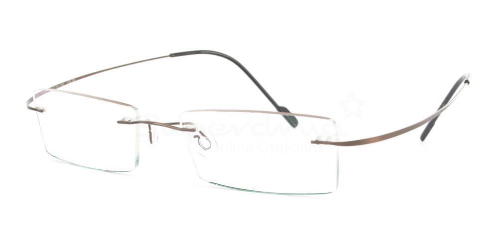 Brown 2008 Glasses, Cobalt