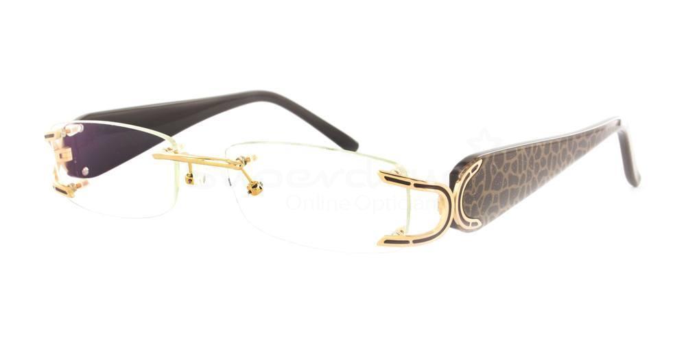 Gold/Brown 808049 Glasses, Neon