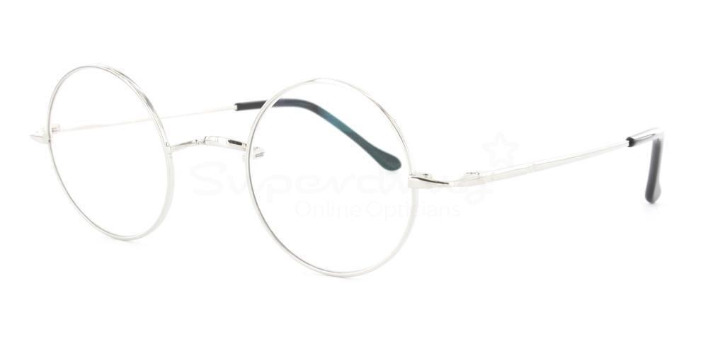 Silver D8732 Glasses, Cobalt