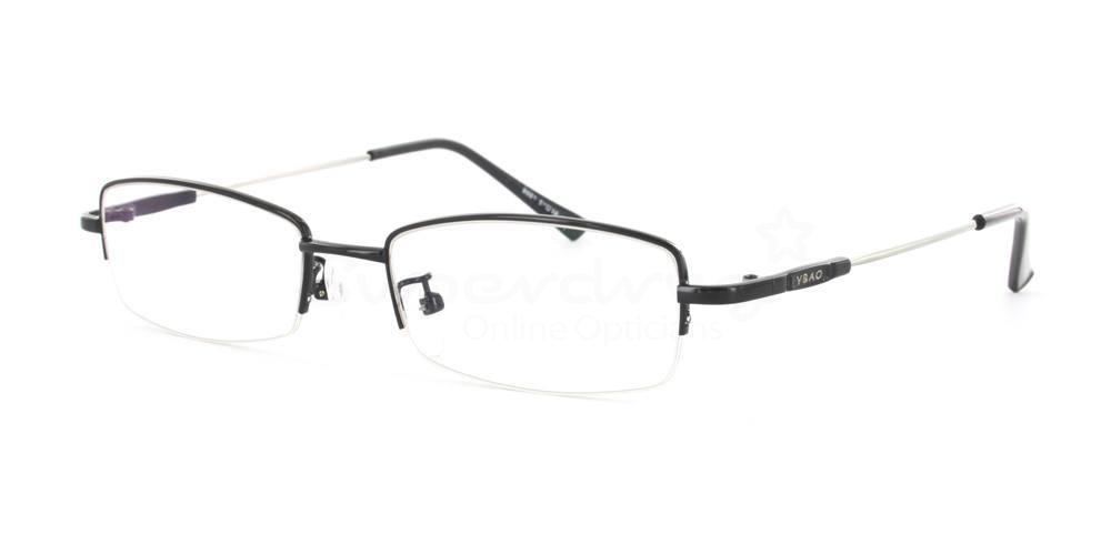Black 8001 Glasses, Indium