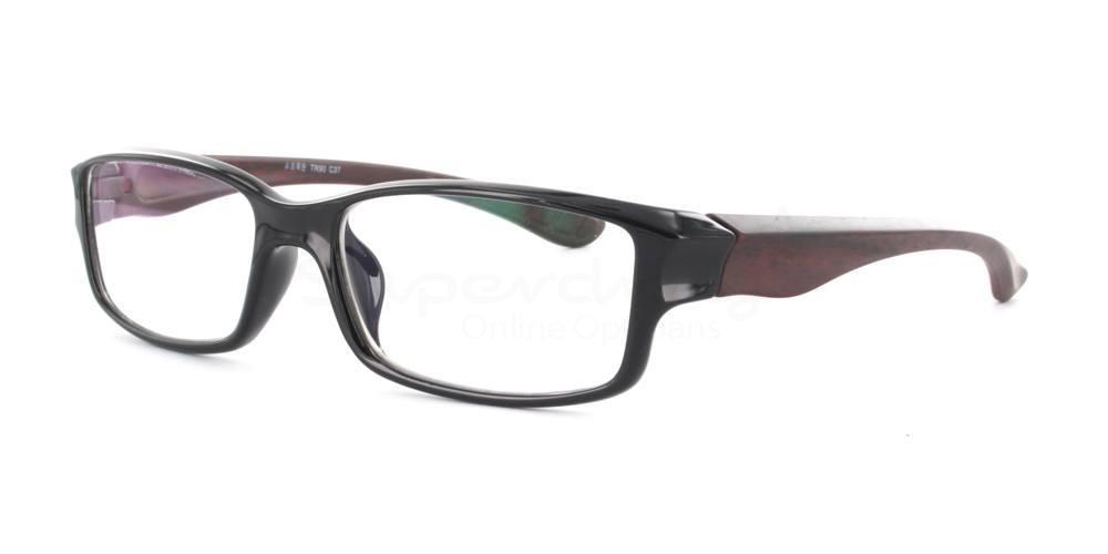 Black/Red R33090 Glasses, Immense