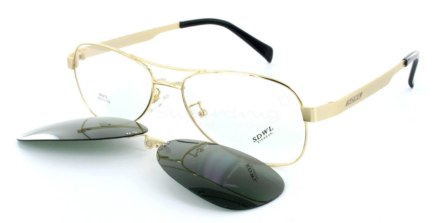 Gold S9015 - with Magnetic, Polarised, Sunglasses Clip-on , Neon