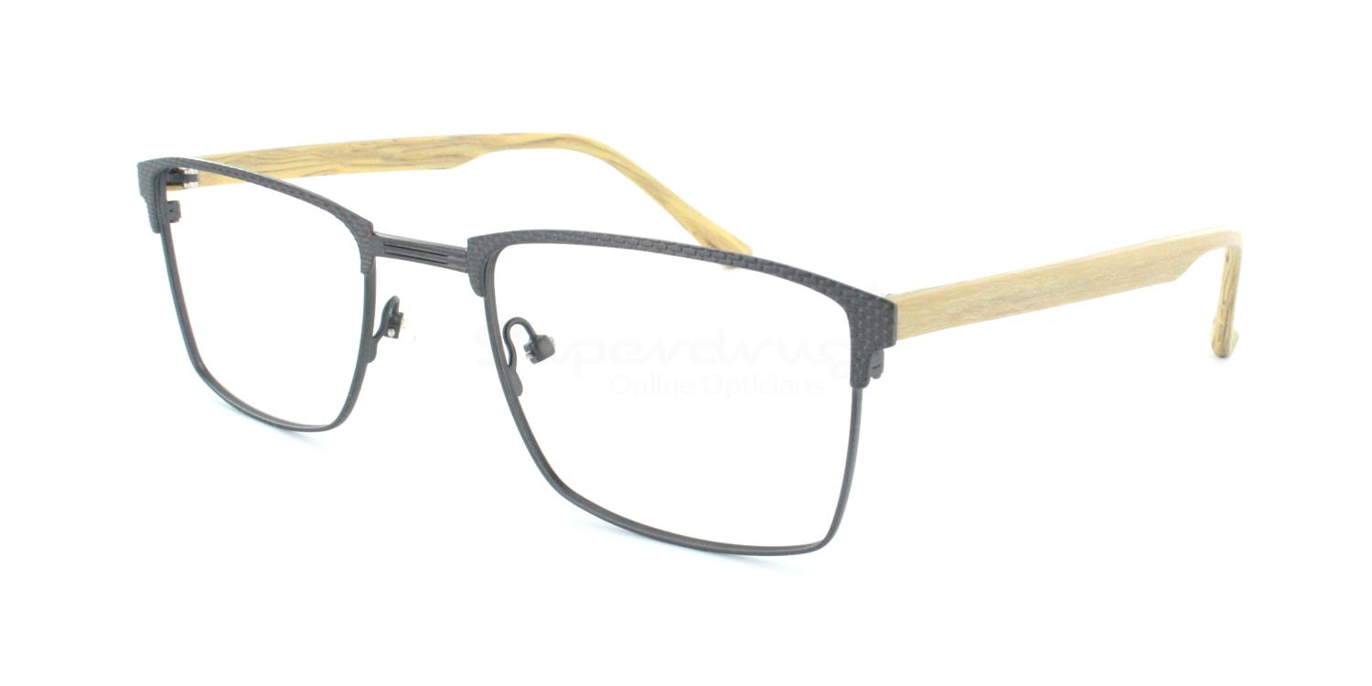 Dark Gunmetal with Wood Effect Arms 99709 Glasses, Immense