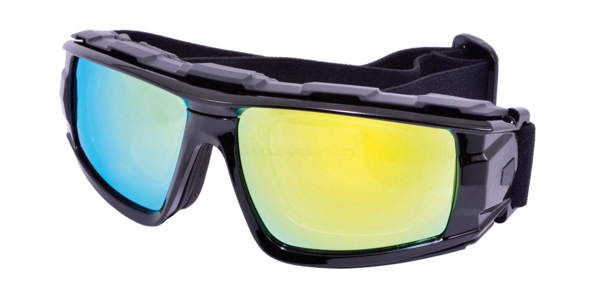 Black SRX11 Goggles, Sports Eyewear