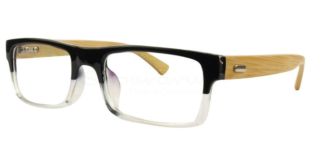 Black / Clear A6865 Glasses, Immense
