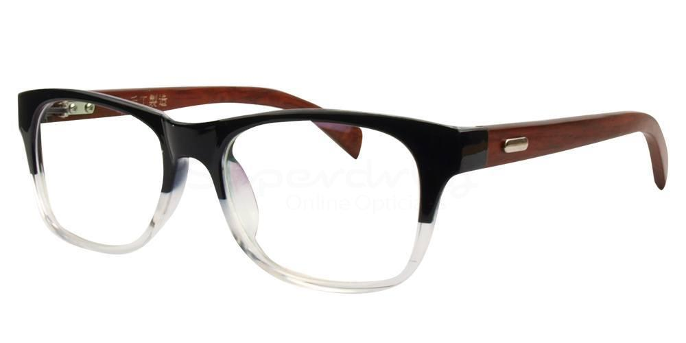 Black / Clear 3029 Glasses, Immense
