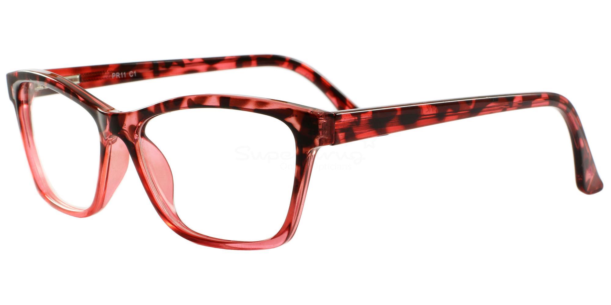 C1 11 Glasses, Pink Ribbon