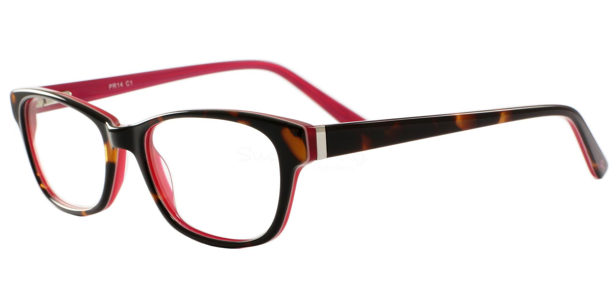 C1 14 Glasses, Pink Ribbon