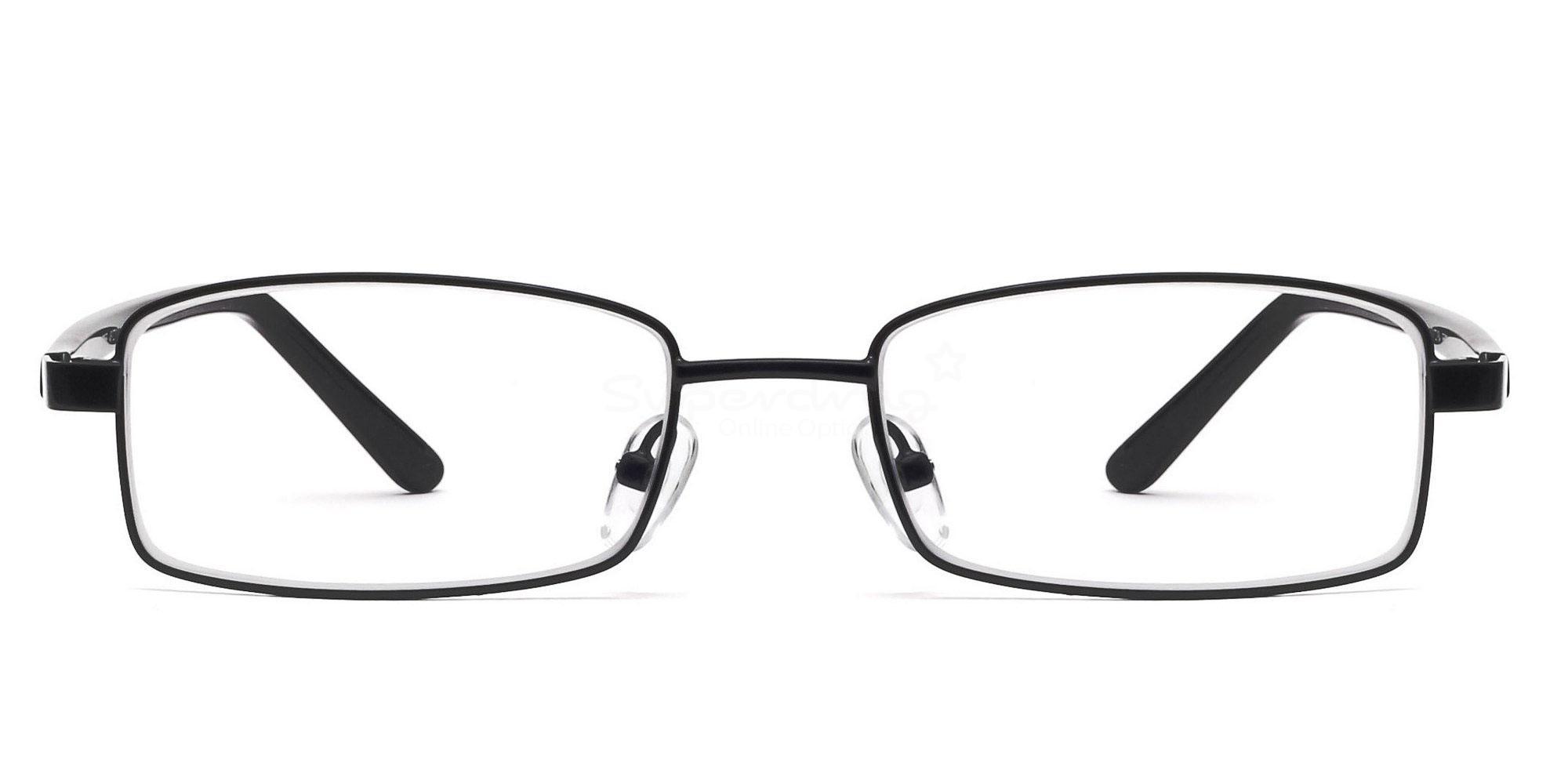 Black 6058 - Black Glasses, Helium