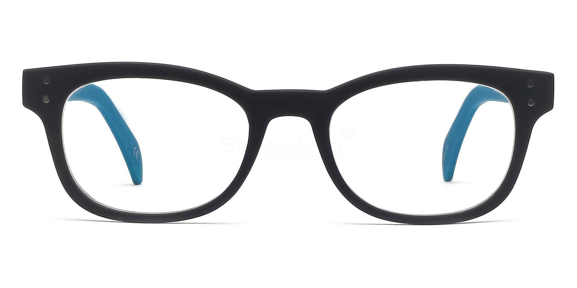 C95 2249 - Matte Blue Glasses, Helium