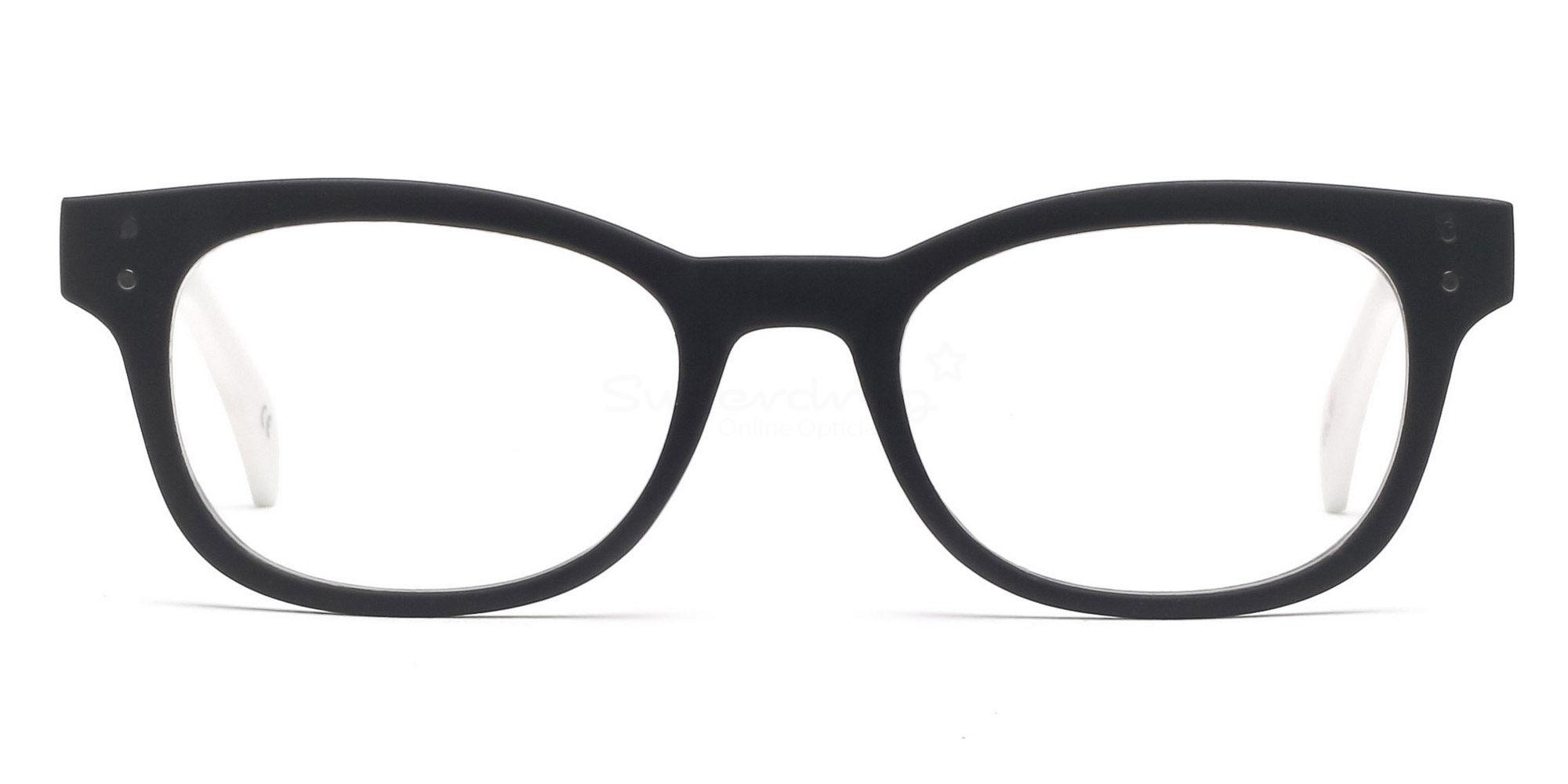 C91 2249 - Matte White Glasses, Helium