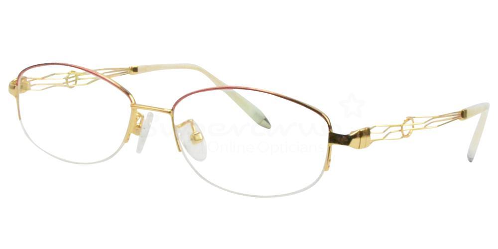 Gold/Red B-56156 Glasses, Radon