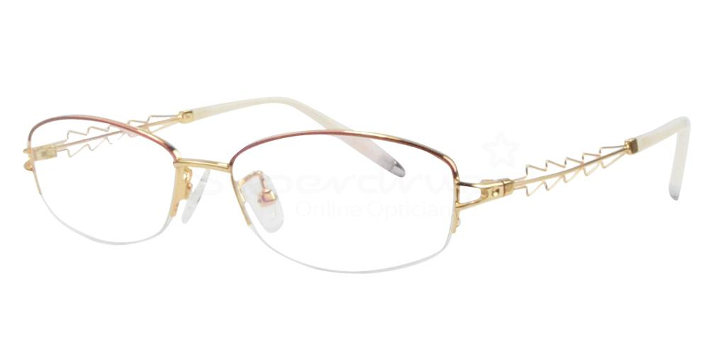 Gold/Red B-56157 Glasses, Radon