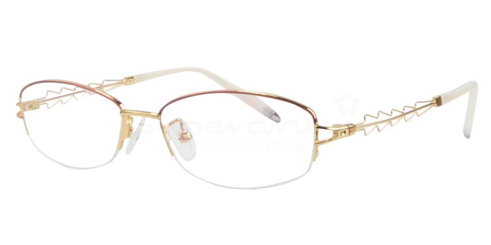 Gold/Red B-56157 Glasses, Radon