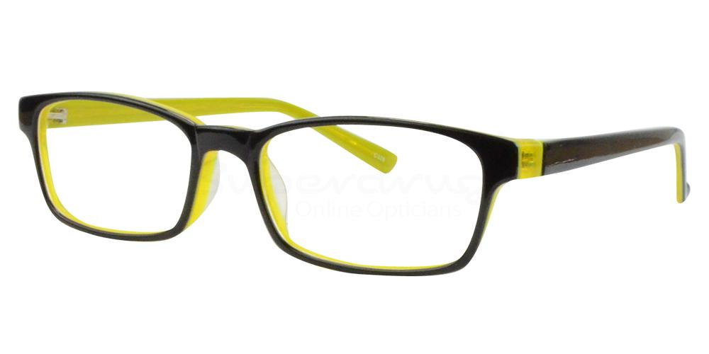 Black/Yellow BL8023 Glasses, Radon