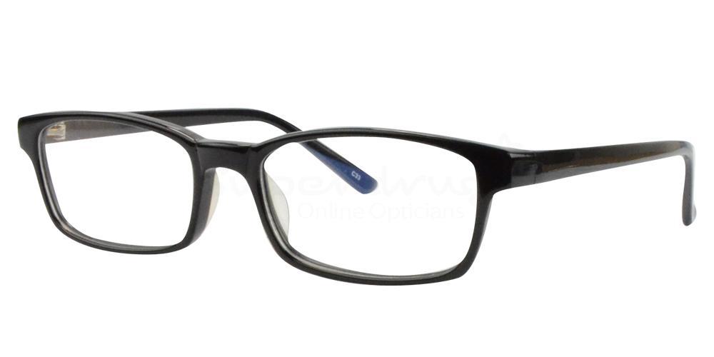 Black BL8023 Glasses, Radon