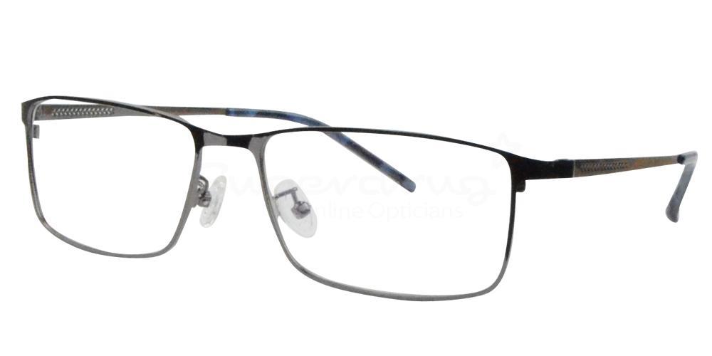 Shiny Gunmetal 8134 Glasses, Radon