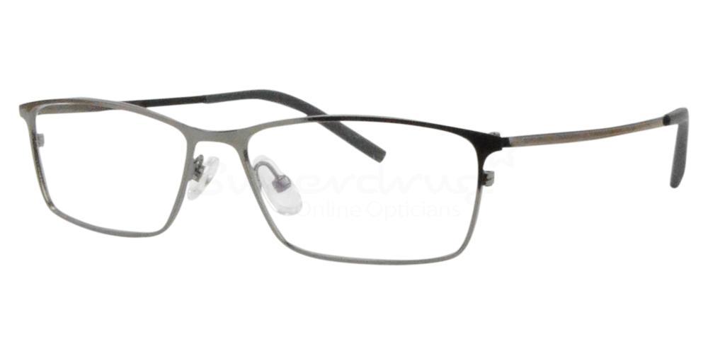 Gunmetal 9368 Glasses, Radon