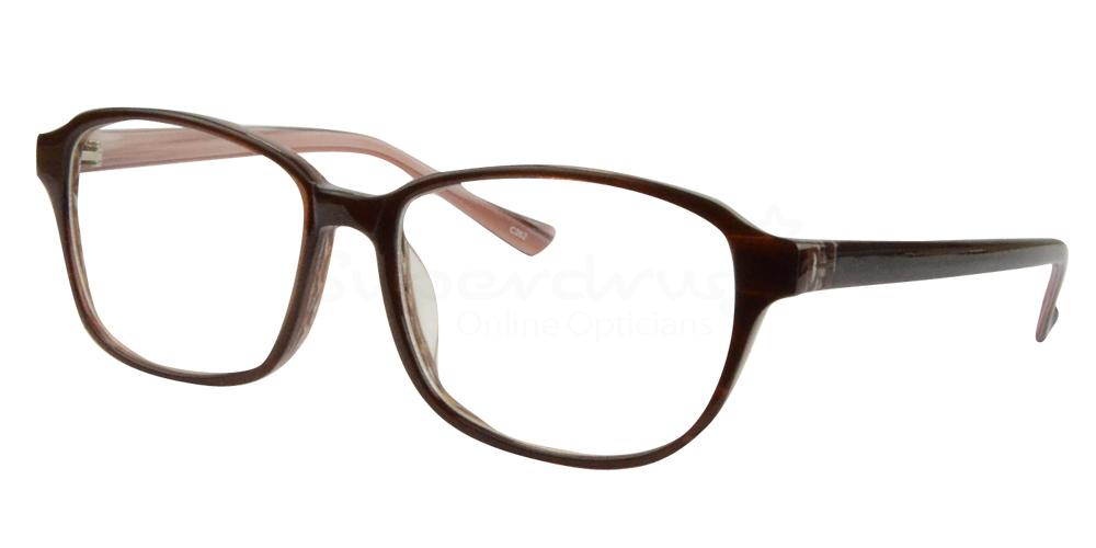 Burgundy/Cream BL8002 Glasses, Radon