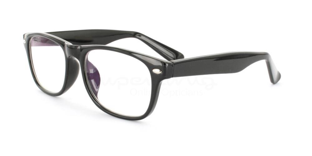 Black P2383 - Black Glasses, Helium