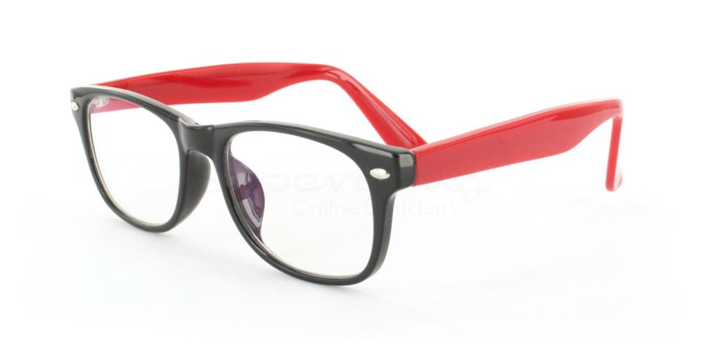 Black and Red P2383 - Black and Red Glasses, Helium