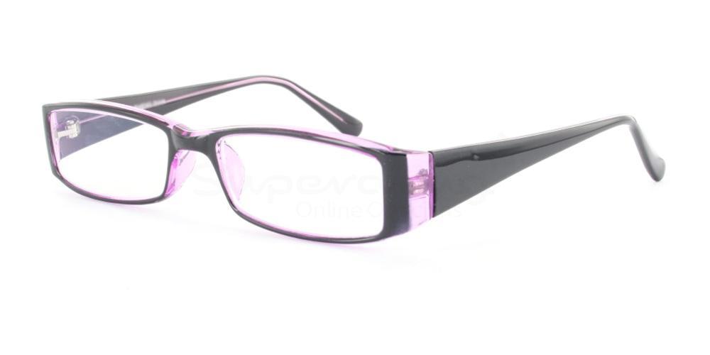 C44 P2251 - Black and Purple Glasses, Helium