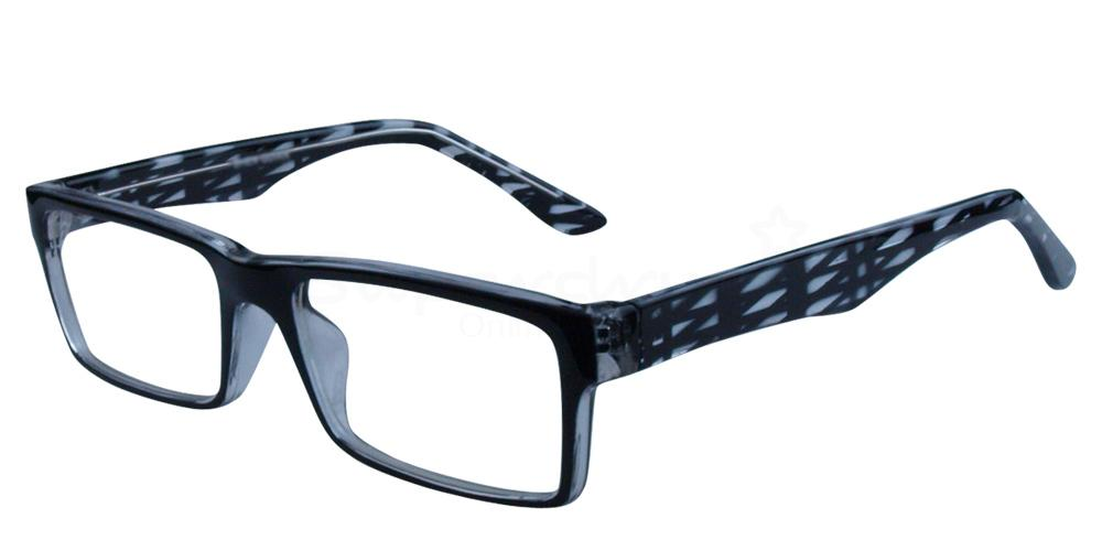Black and Clear P2329 - Black and Clear Glasses, Helium
