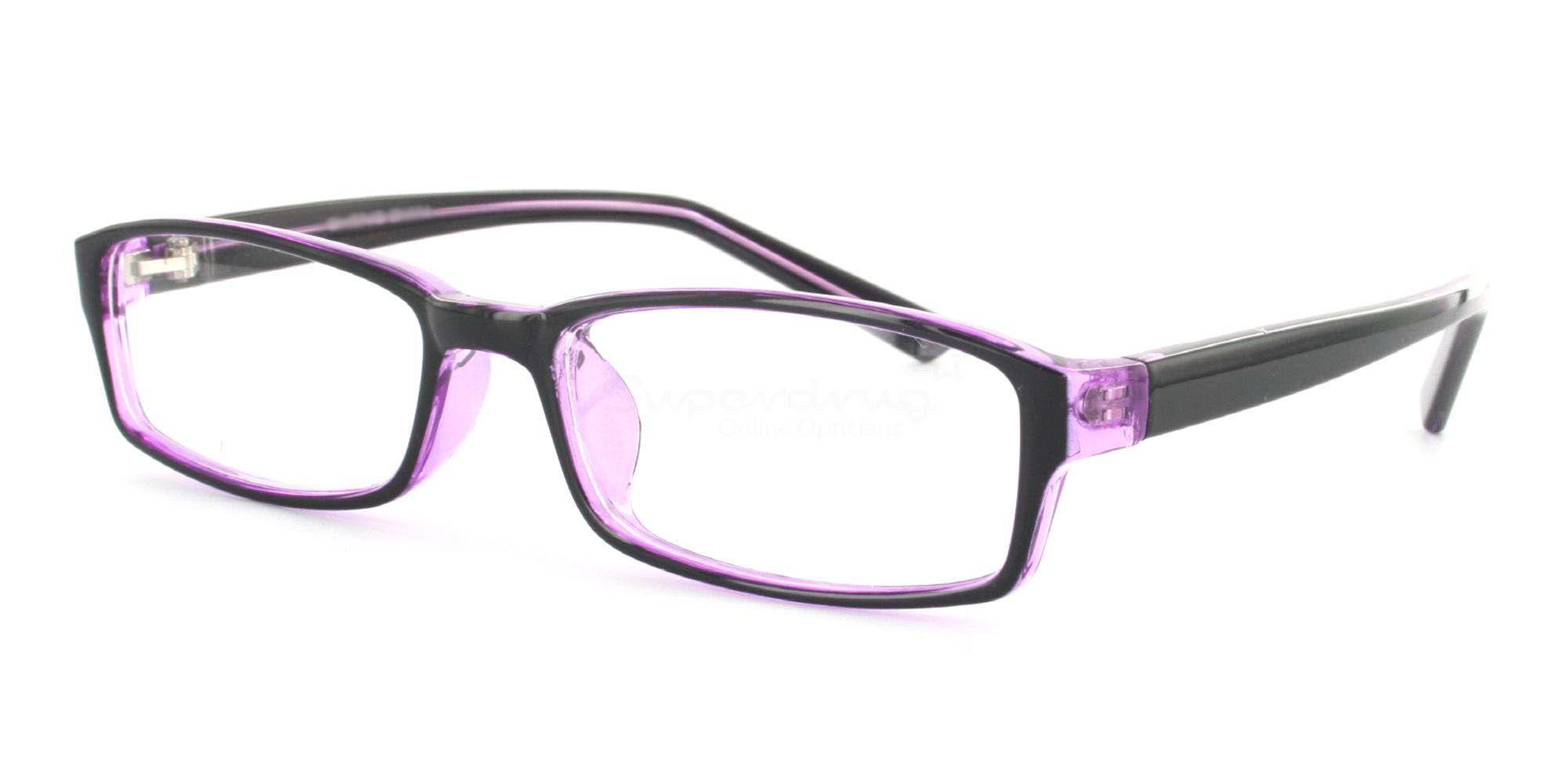 COL.44 2264 - Purple and Black Glasses, Helium