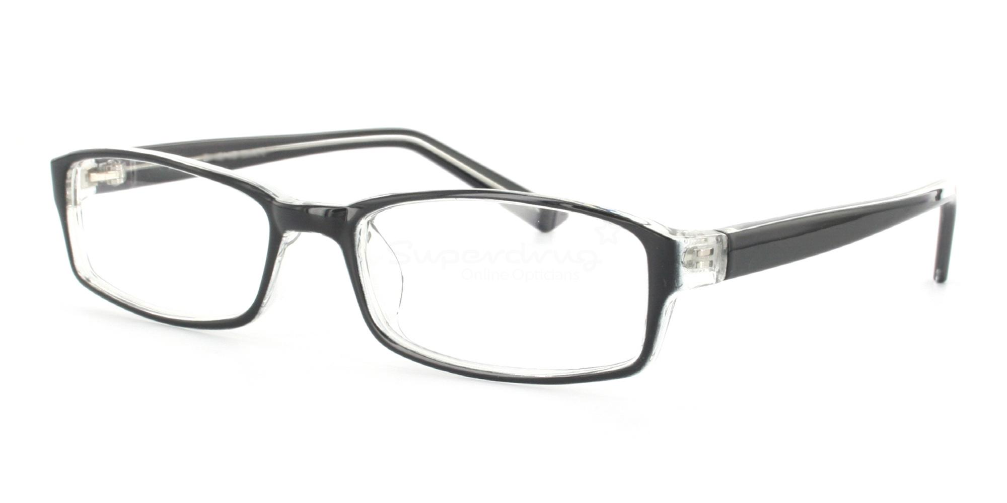 COL.33 2264 - Black and Clear Glasses, Helium