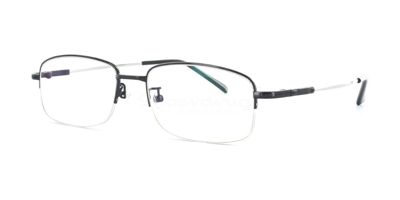 Black 8158 - Black Glasses, Indium