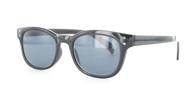 C01 Dark Grey P2249 - Shiny Black (Sunglasses) Sunglasses, Indium