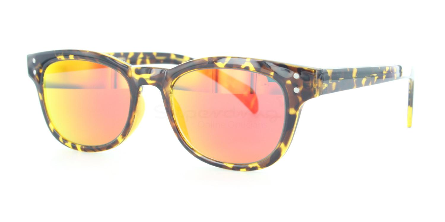 C04 Polarized Grey with Orange Mirror P2249 - Havana (Mirrored Polarized) Sunglasses, Neon