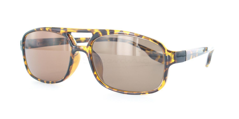 C04 Polarized Brown P2395 - Demi Havana (Polarized) Sunglasses, Neon