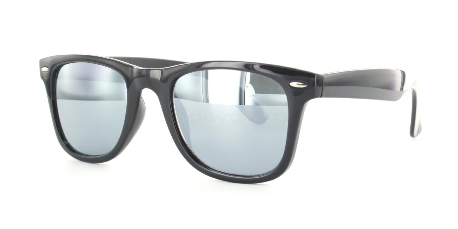 C01 Polarized Grey with Silver Mirror P2429 - Black (Mirrored Polarized) Sunglasses, Neon
