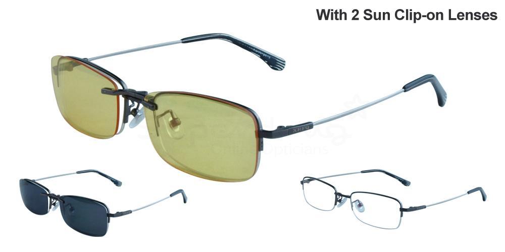 Gunmetal B8015 Glasses, Krypton